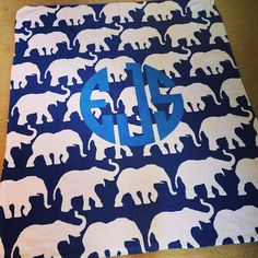 Parading Elephants Blanket