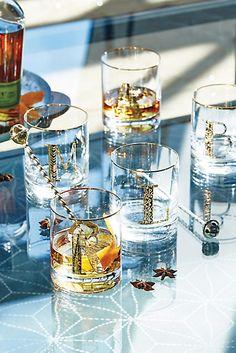 Gilded Monogram DOF Glass - anthropologie.com
