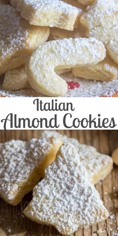 These Italian Almond Cookies are a soft cut out cookie, fast and easy to make. - These Italian Almond Cookies are a soft cut out cookie, fast and easy to make. Made with only 6 ing - Italian Almond Cookies, Italian Cookie Recipes, Cake Mix Cookie Recipes, Chip Cookie Recipe, Chocolate Cookie Recipes, Peanut Butter Cookie Recipe, Cookie Tray, Baking Recipes, Chocolate Chips