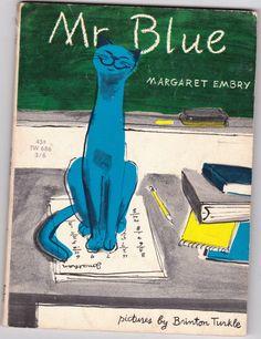 """""""Mr Blue"""" - Vintage Kids Book by Margaret Embry"""