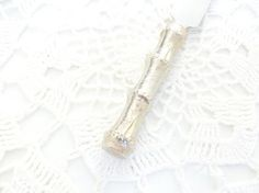 Silver Bamboo Butter Knife USA // by AJewelsQuest on Etsy, $11.95