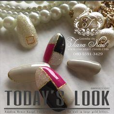 新色♡ブロックnail インスタもよろしくお願いします→gotemba_tiaranail #tiara_nail #ネイルブック