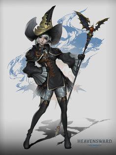 final fantasy 14 AURA fanart (Black Mage), mosh fink on ArtStation at https://www.artstation.com/artwork/lZbRe