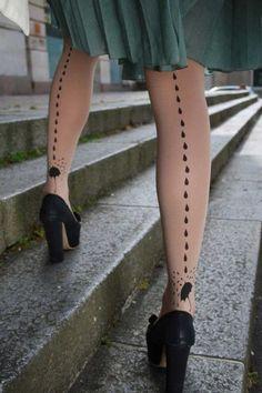Meia-calça estampada
