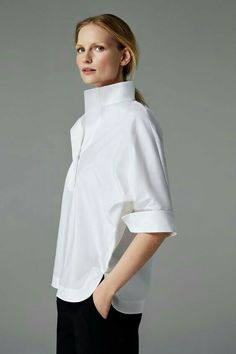 6dca7e8a45e1 55 Best White Blouse images in 2019 | Fashion details, White blouses ...