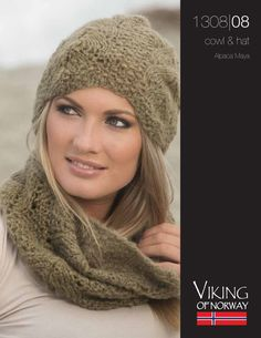 Knitting Patterns Galore - Alpaca Maya Cowl & Hat