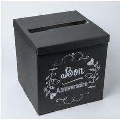 Ideal Urne mariage Noir Bon Anniversaire