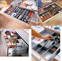Organizador para gaveta de cozinha da BLUM