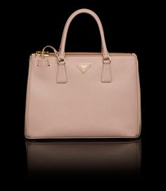 PRADA TOTE SAFFIANO CUIR LEATHER TOTE DOUBLE HANDLE GOLD-PLATED ... - Prada Double Saffiano leather bag