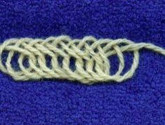 Various nålbinding stitches with Hansen's notations