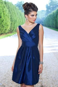 cocktail length,Criss Cross Tank,Tank Style 4128 Bridesmaid Dress by Alexia Designs