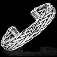 Scott Kay Men's Silver Bracelet Equestrian Bangle Weave