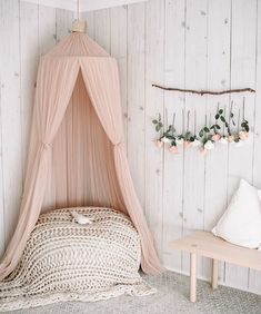 This Realistic Shiplap Wallpaper can add subtle warmth authentic rustic charm to your interior. Grab your sample today. But Now Pay later with Afterpay! Big Girl Bedrooms, Little Girl Rooms, Girls Flower Bedroom, Girls Pink Bedroom Ideas, Tween Room Ideas, Girl Toddler Bedroom, Girls Bedroom Decorating, Rustic Girls Bedroom, Pastel Girls Room