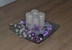 Adventny Christmas Swags, Christmas Candles, White Christmas, Christmas Crafts, Christmas Ornaments, Candle Centerpieces, Christmas Table Decorations, Christmas Is Coming, Craft Party
