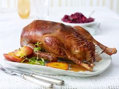 Roast this spiced turkey with vegetables for a hearty Thanksgiving dinner. Pork Roast Recipes, Chicken Recipes, Clean Eating Recipes, Cooking Recipes, Radish Recipes, Thanksgiving Menu, Roasted Turkey, Spaghetti Squash, Thanksgiving Deserts