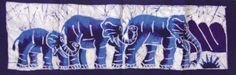 """Small African Batik - Elephant Family 28"""" x 9""""' onload=""""if (typeof uet == 'function') { uet('af'); } $13.79"""