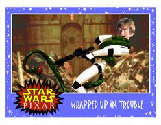 In a Galaxy Far Far Away Pixar did Star Wars ! with Luke Skywalker wrapped up in trouble created by Phil Postma who came up with these excellent charactor cards which can be found on his site Minion Factory