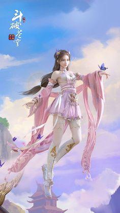 Anime Angel Girl, Anime Girl Dress, Cool Anime Girl, Kawaii Anime Girl, Anime Art Girl, Anime Art Fantasy, Fantasy Art Women, Beautiful Fantasy Art, Dark Fantasy Art