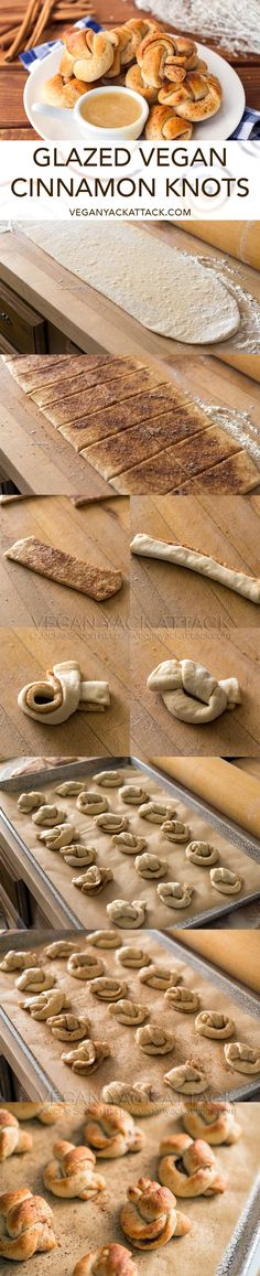 Cinnamon Knots with Glaze Dip | #Vegan Yack Attack