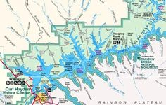 Lake Powell Houseboat and Vacation Map for Utah and Arizona ...
