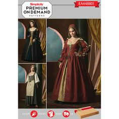 Simplicity Pattern EA448801 Premium Print on Demand Costume Pattern