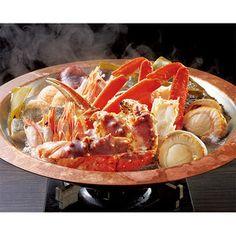 かにと多彩な海の幸の旨みを昆布だしで引き立て、ポン酢でどうぞ。【かにちり海鮮鍋】