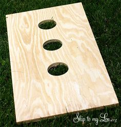 How to build a homemade washers game. Simple DIY tutorial for a fun outdoor party game #diy #make  skiptomylou.org