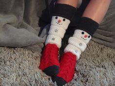 Ravelry, Knitting Socks, Knitting Ideas, Leg Warmers, Fingerless Gloves, Snowman, Crafty, Fabric, Bags