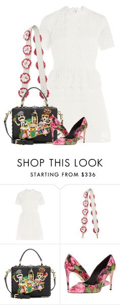 """Blank Slate"" by cherieaustin ❤ liked on Polyvore featuring self-portrait, Prada and Dolce&Gabbana"