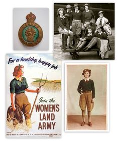 "Hat pin, recruiting poster and WLA ""pin-up""."