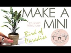 MAKE A MODERN MINI! A Super Easy Step-by-Step Tutorial | How to Make a giant Bird of Paradise plant. - YouTube Birds Of Paradise Plant, Thing 1, Houseplants, Super Easy, The Creator, Miniatures, Place Card Holders, Modern, Scale