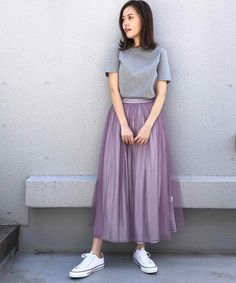 Summer Waves, Pencil Skirt Outfits, Japanese Fashion, Handmade Accessories, Fashion Outfits, Womens Fashion, Midi Skirt, Tulle, Clothes For Women