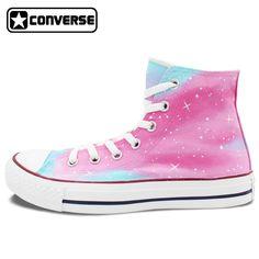 official photos b3c7a 62cb3 Women Men Converse Chuck Taylor Man Woman Shoes Pink Galaxy Original Design  Hand Painted Shoes Boys