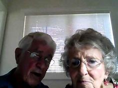 Elderly couple accidentally record themselves while trying to figure out how webcam works. They are too cute!! (cutest husband in the world)