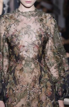 Valentino, Fall 2012 Couture / haute couture dress / detail / floral
