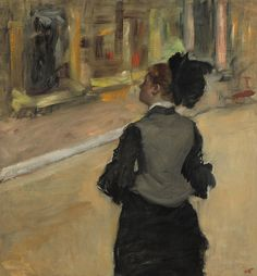 Woman Viewed From Behind Painting by Edgar Degas