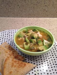 smAshlicakes: Family Dinner: Chicken and Avocado Soup Soup Recipes, Great Recipes, Favorite Recipes, Healthy Recipes, Chicken Avocado Soup, Paleo, Chili Soup, Healthy Family Meals, Soup And Sandwich