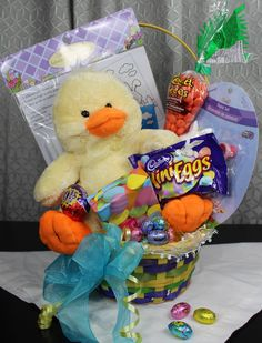 $29.95. Easter Fun!  Kids will love this Easter basket full of fun stuff & treats! Colouring and painting crafts, an adorable stuffed bunny or duck, and lots of favourite Easters treats!