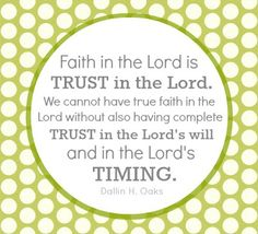 <3 Faith in the Lords timing is the most important thing.