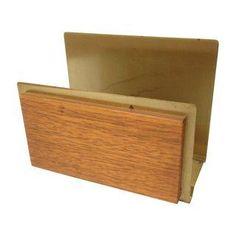 Vintage Brass & Wood Mail Holder