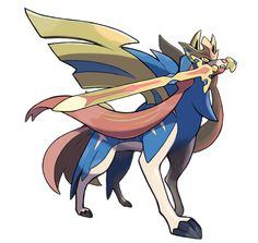 printed Pokemon Sword and Shield Zacian Sword Pre order Kits will require assembly, paint, and sanding to look their best. Please allow up to 4 weeks processing time for a kit and 12 weeks for a fully finished sword. Sword is approximately 42 inches long Pokemon Live, Cool Pokemon, Pokemon Games, Pyssla Pokemon, Lucario Pokemon, Nouveau Pokemon, Photo Pokémon, Legends And Myths, Pokemon Fusion