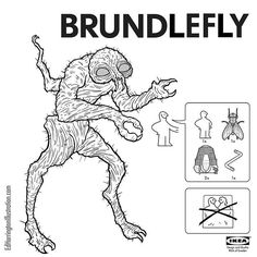 IKEA Instructions for Horror Fans - The Fly by Ed Harrington