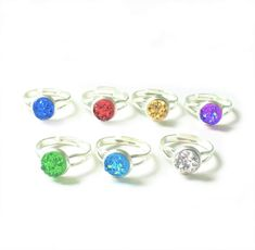 Crystal Druzy ring Adjustable Statement ring Round Boho   Etsy