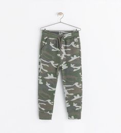 Image 1 of CAMOUFLAGE TROUSERS from Zara