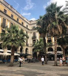 Barcelona Plaza Real Barcelona Plaza, Visit Barcelona, City Break, Gaudi, Great Places, Places To Travel, Biodata Format, Castle, Street View