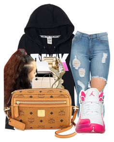 """""""Goin bowling"""" by barbiebih ❤ liked on Polyvore featuring Victoria's Secret, Michael Kors and MCM"""