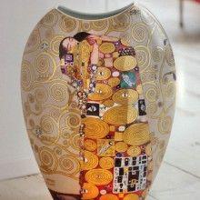 """Goebel: jarrón de porcelana con la pintura """"El abrazo"""" de Gustav Klimt …"""
