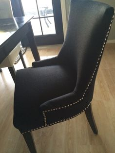 My new black chairs. Black Chairs, Home Goods, Dining Chairs, My Love, Furniture, Home Decor, Chairs, Decoration Home, Room Decor