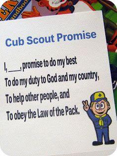 Cute Cub Scout Printables