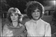 "Jessica Lange y Dustin Hoffman en el rodaje de ""Tootsie"", 1982"